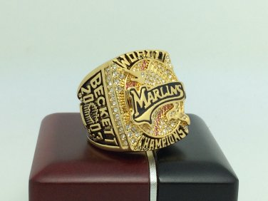 2003 Florida Marlins world series Championship Ring 11 Size With wooden box
