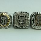 One set 3PCS 2010 2012 2014 San Francisco Giants world series Championship Ring 9-13S