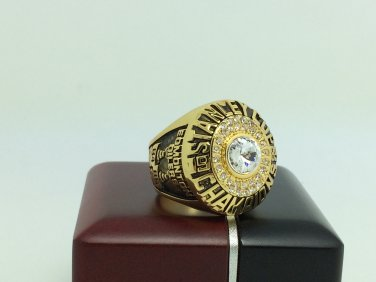 1985 Edmonton Oilers Stanley Cup Championship ring 11 Size With wooden box