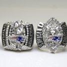 Promotion sale One Set 4PCS 2001 2003 2004 2014 New England Patriots super bowl rings 11S solid back