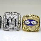 One Set 4 PCS 1986 1990 2007 2011 New York Giants super bowl Rings 11S