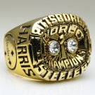 1975 Pittsburgh Steelers super bowl Championship Ring 11 Size