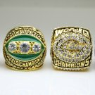 4PCS One Set 1966 1967 1996 2010 Green bay packers super bowl Rings 11 Size solic back in stock