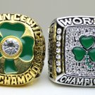 One set 2 PCS 1984 2008 Boston Celtics Basketball NBA Championship Ring 10 Size