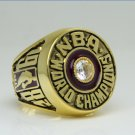 1982 Los Angeles Lakers  Basketball NBA Championship Ring 8-14 Size Name JOHNSON