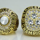 One Set 2PCS 1985 1987 Edmonton Oilers Stanley Cup Championship ring 11 Size
