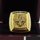 2009 New Orleans Saints super bowl Championship Ring 8-14 Size With wooden box