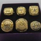 Kobe set 6 PCS 2000 2001 2002 2009 2010 2016 Los Angeles Lakers NBA Championship Ring 10S