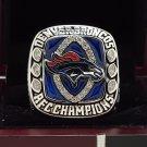 2013 Denver Broncos AFC super bowl Championship Ring 8-14 Size