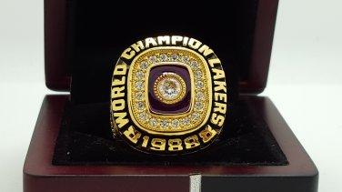 1988 Los Angeles Lakers  Basketball NBA Championship Ring 8-14 Size Name JOHNSON