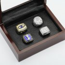 One Set 4 PCS 1986 1990 2007 2011 New York Giants championship Rings 10-13 Size +box