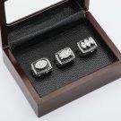 One Set 3PCS 1976 1980 1983 Oakland Raiders Championship Ring 10-13 Size +box