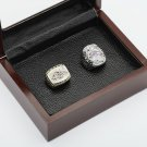 One Set 2 PCS 2000 2012 Baltimore Ravens Championship Ring 10-13 Size with wooden case