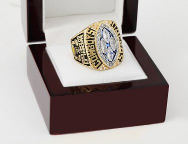 1993 Dallas Cowboys super bowl Championship Ring 10-13 Size With wooden case