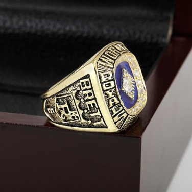 1985 KANSAS CITY ROYALS World Series Championship Ring Size 10-13 With a nice wooden case