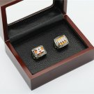 2PCS 1991 1993 Buffalo Bills AFC Football Championship Ring Size 10-13 With a nice wooden case