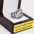 2007 New England Patriots AFC Football Championship Ring Size 10-13 With a nice wooden case