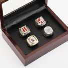 4 PCS 1992 2009 2011 2012 Alabama Crimson Tide NCAA  Championship Ring Size 10-13 With wooden case