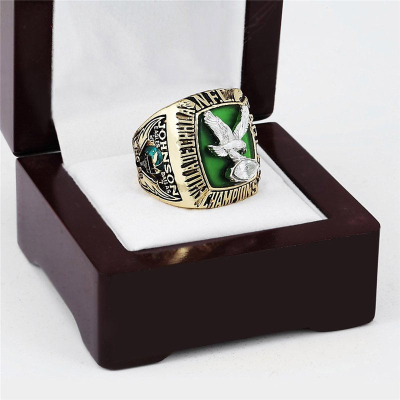 1980 PHILADELPHIA EAGLES NFC Football Championship Ring Size 10-13 With a nice wooden case