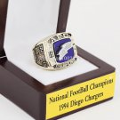 1994 Diego Chargers NFC Football Championship Ring Size 10-13 With a nice wooden case