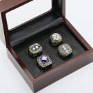 4 PCS 1980 1981 1982 1983 New York Islanders Hockey Championship Ring Size 10-13 +wooden case