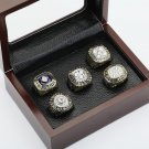 5 PCS 1984 1985 1987 1988 1990 EDMONTON OILERS Hockey Championship Ring Size 10-13 +wooden case
