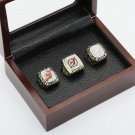3 PCS 1995 2000 2003 New Jersey Devils Hockey Championship Ring Size 10-13 +wooden case