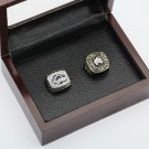 2PCS 1996 2001 COLORADO AVALANCHE Hockey Championship Ring Size 10-13 With a nice wooden case