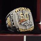 On sale order 2015 Denver Broncos super bowl  Rings 8 Size copper solid Miller Name