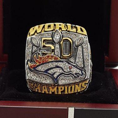 On sale order 2015 Denver Broncos super bowl  Rings 14 Size copper solid Miller Name