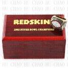 Team Logo wooden case 1982 Washington Redskins super bowl Ring 10-13 Size to choose