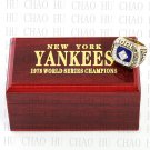 1978 New York Yankees MLB Championship Ring 10-13 Size with Logo wooden box