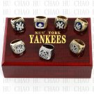 One Set 7 PCS 1977 1978 1996 1998 1999 2000 2009 New York Yankees MLB Rings 10-13S Logo wooden box