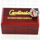 2011 St. Louis Cardinals MLB Championship Ring 10-13 Size with Logo wooden box