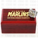 2003 FLORIDA MARLINS MLB Championship Ring 10-13 Size with Logo wooden box