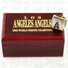 2002 LOS ANGELES ANGELS MLB Championship Ring 10-13 Size with Logo wooden box