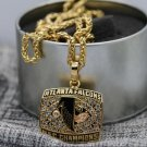1998 Atlanta Falcons NFC Football Championship Necklace copper solid with a chain