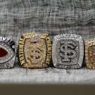 One Set 4 PCS 2013 FLORIDA STATE FSU SEMINOLES NATIONAL CHAMPIONSHIP RING 8-14S