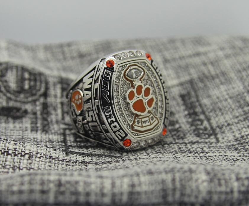 2015 Clemson tigers ACC National championship ring 8-14S for WATSON