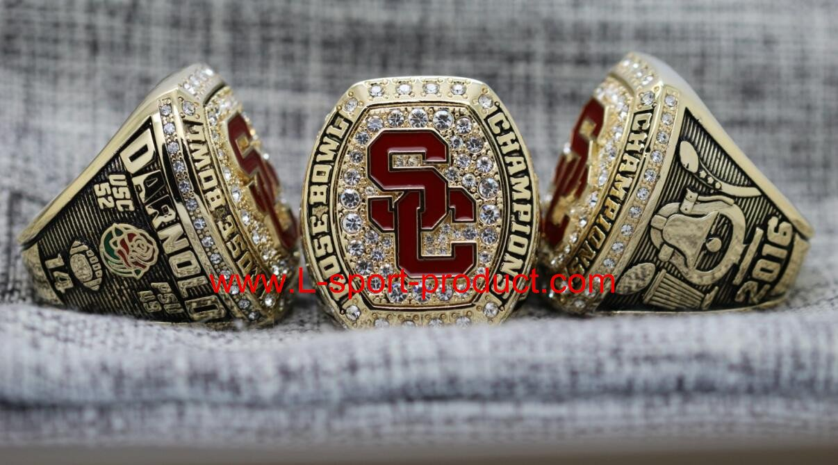 2017 USC Trojans University of Southern California Rose Bowl Championship Ring 14S