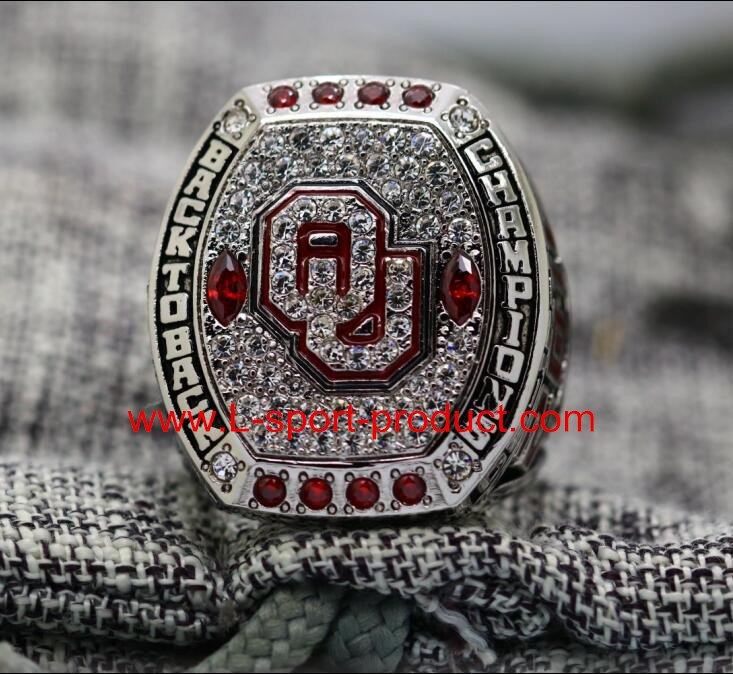 2016 Oklahama sooners Big 12 NCAA National Championship Ring 8-14S