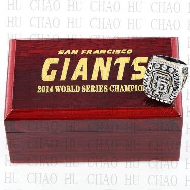2014 San Francisco Giants MLB Championship Ring 10-13 Size with Logo wooden box