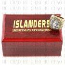 1982 New York Islanders NHL Hockey Championship Ring 10-13 Size with Logo wooden box
