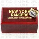1994 New York Rangers NHL Hockey Championship Ring 10-13 Size with Logo wooden box