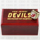 2000 New Jersey Devils NHL Hockey Championship Ring 10-13 Size with Logo wooden box