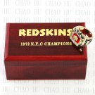 1972 Washington Redskins NFC Football world Championship Ring 10-13 Size with Logo wooden box