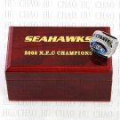 2005 Seattle Seahawks NFC Football world Championship Ring 10-13 Size with Logo wooden box