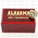 2011 Alabama Crimson Tide NCAA Football National Championship Ring 10-13 Size with Logo wooden box