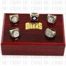 SET 5PCS 1984 1985 1987 1988 1990 EDMONTON OILERS Hockey Championship Ring 10-13S + Team Logo box