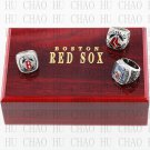 3PCS Sets 2004 2007 2013 Boston Red Sox MLB Championship Ring 10-13 Size with Logo wooden box